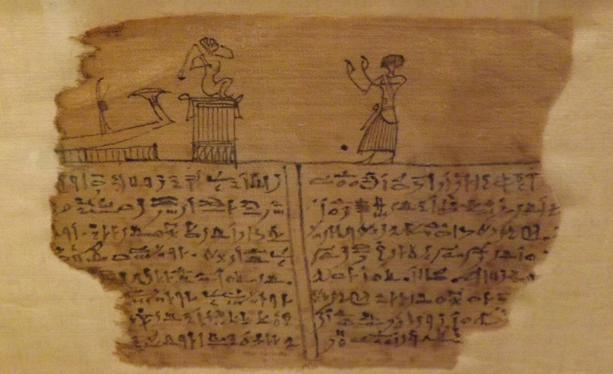 Paptus with Hieratic Letters